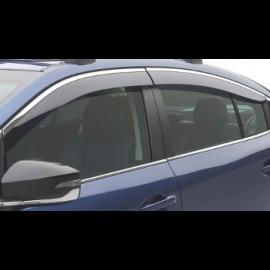 Legacy Side Window Deflectors - Chrome